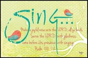 come before his presence with singing